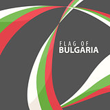 Flag of Bulgaria on a dark background