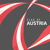 Flag of Austria against a dark background