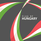Flag of Hungary against a dark background
