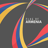 Flag of Armenia against a dark background