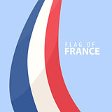 Flag of France against dark background