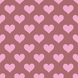 Pink hearts seamless background pattern