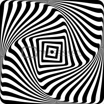 Abstract op art design.