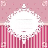 Invitation card in pink tones