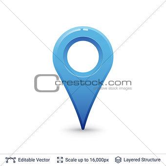 Bright location pin.