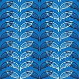 Angel wings blue sketch pattern