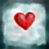 digital painted heart