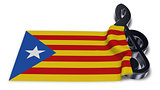 clef symbol symbol and flag of catalonia - 3d rendering