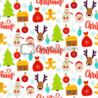 Christmas Celebration Seamless Pattern