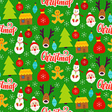 Christmas Greeting Seamless Pattern