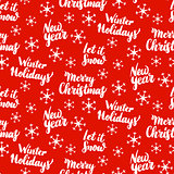 Christmas Lettering Seamless Pattern