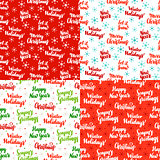 Christmas Lettering Seamless Patterns