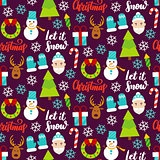 Dark Christmas Seamless Pattern