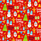 Merry Xmas Seamless Pattern