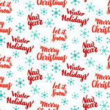 New Year Lettering Seamless Pattern