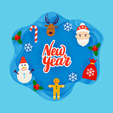New Year Papercut Concept