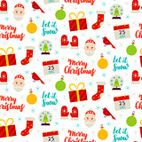 Seasonal Christmas Seamless Pattern