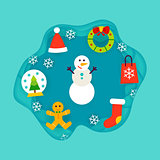 Winter Holiday Papercut Concept