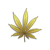 Golden Cannabis-Marijuana