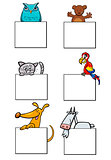 cartoon animal characters with cards collection