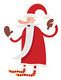 funny santa claus character cartoon
