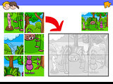 jigsaw puzzles with bug characters