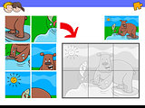 jigsaw puzzles with bear animal character