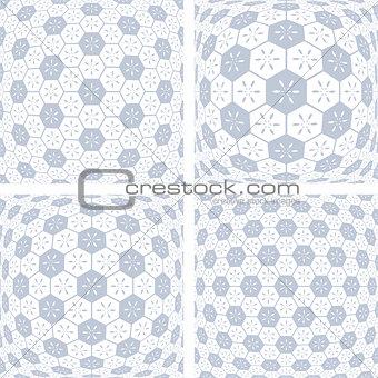 3D hexagons patterns.