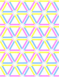 Seamless triangles, diamonds and hexagons pattern.