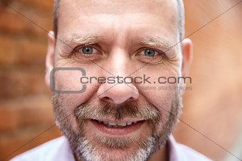 Close up portrait of a mature man