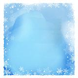 Snowflake border on a watercolour texture