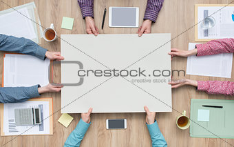 Business team working on a project