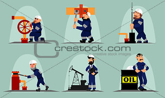 Six oil workers