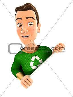 3d green hero behind diagonal wall