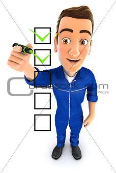 3d mechanic checklist