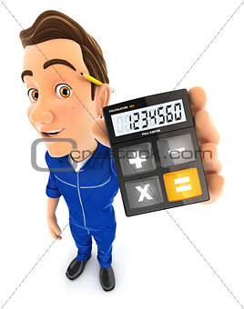 3d mechanic holding calculator