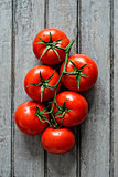 Group of ripe tomatoes