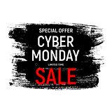 Cyber Monday Background Sale Concept. Vector Illustration