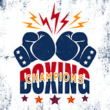 Sport logo for boxing