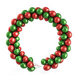 Red and green balloons wreath