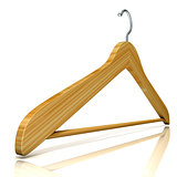 Wooden clothes hangers, 3D