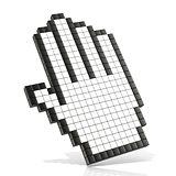 Cursor open hand. 3D