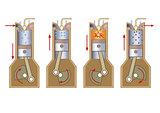Diesel power engine. Illustration vector.