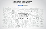 Brand identity concept with Business Doodle design style: compan