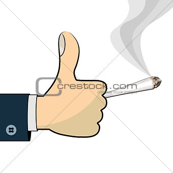 Thumb up for cannabis