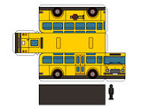 Paper model of an old school bus