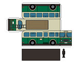 Paper model of an old bus