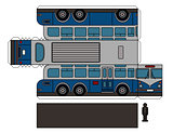 Paper model of an old large bus