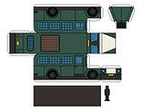 Paper model of a classic prison bus