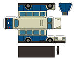 Paper model of a classic bus